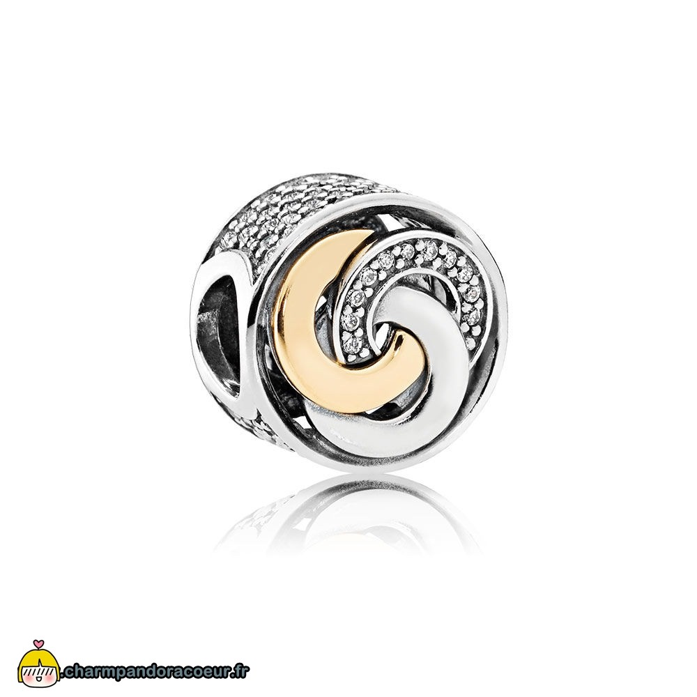 Nouvelle Collection Pandora Pandora Symboles De Amour Charms Cercles Interlies Charme Clear Cz
