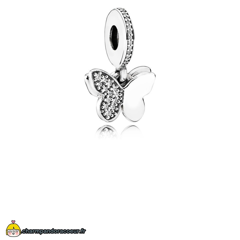Nouvelle Collection Pandora Charm Envolee De Papillons