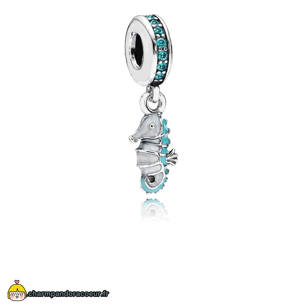 Nouvelle Collection Pandora Charm Pendentif Hippocampe Tropical
