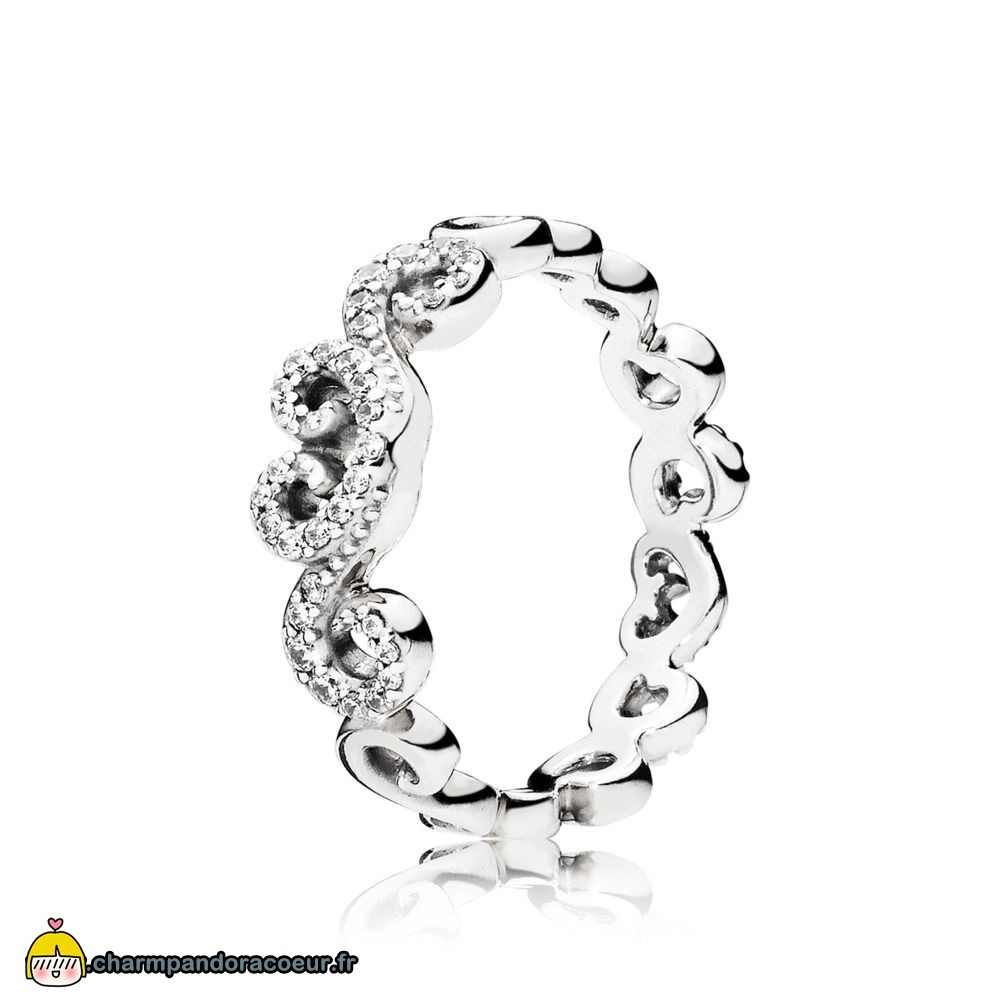 Nouvelle Collection Pandora Coeur Swirls Bague