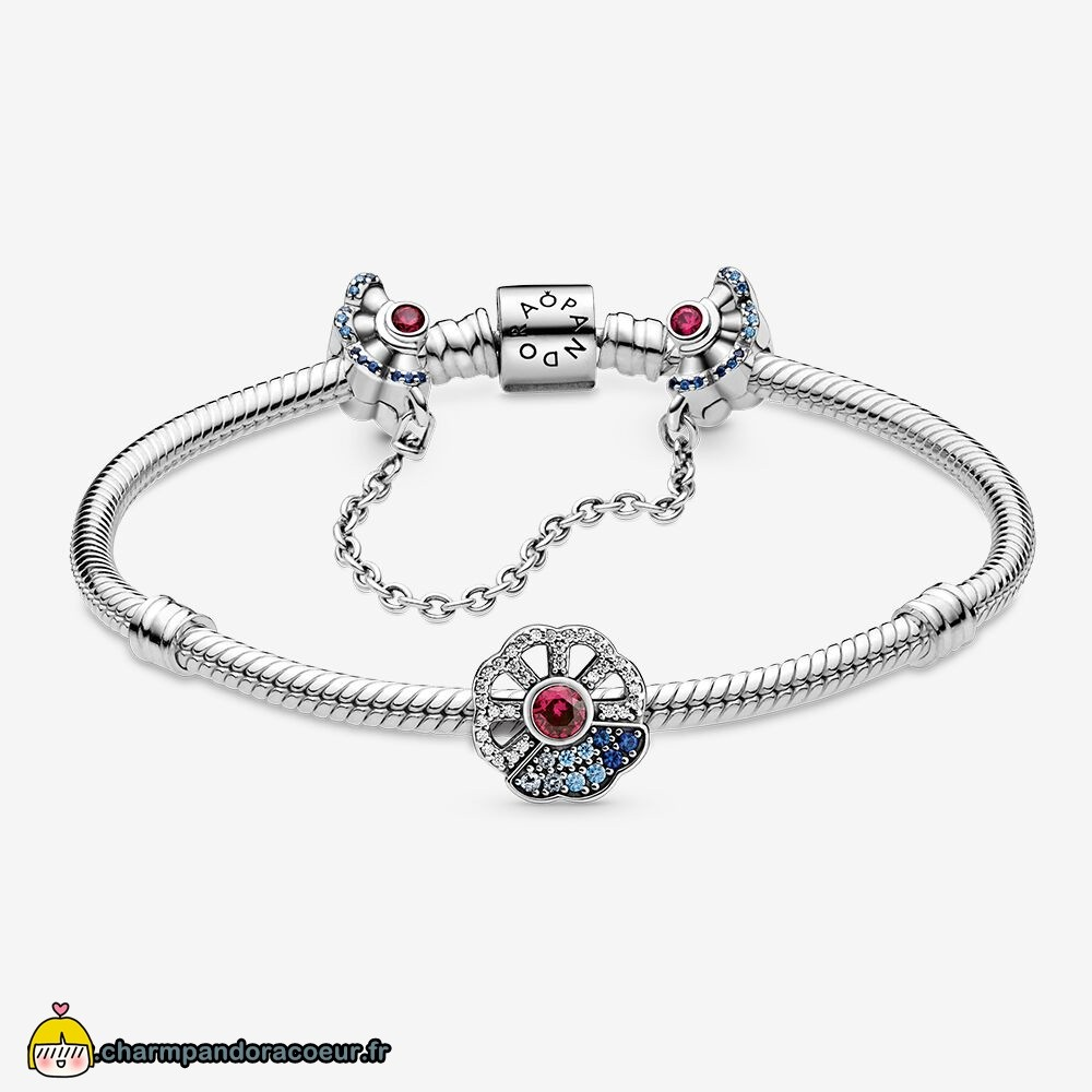 Nouvelle Collection Pandora Blue & Pink Bracelets Ensemble