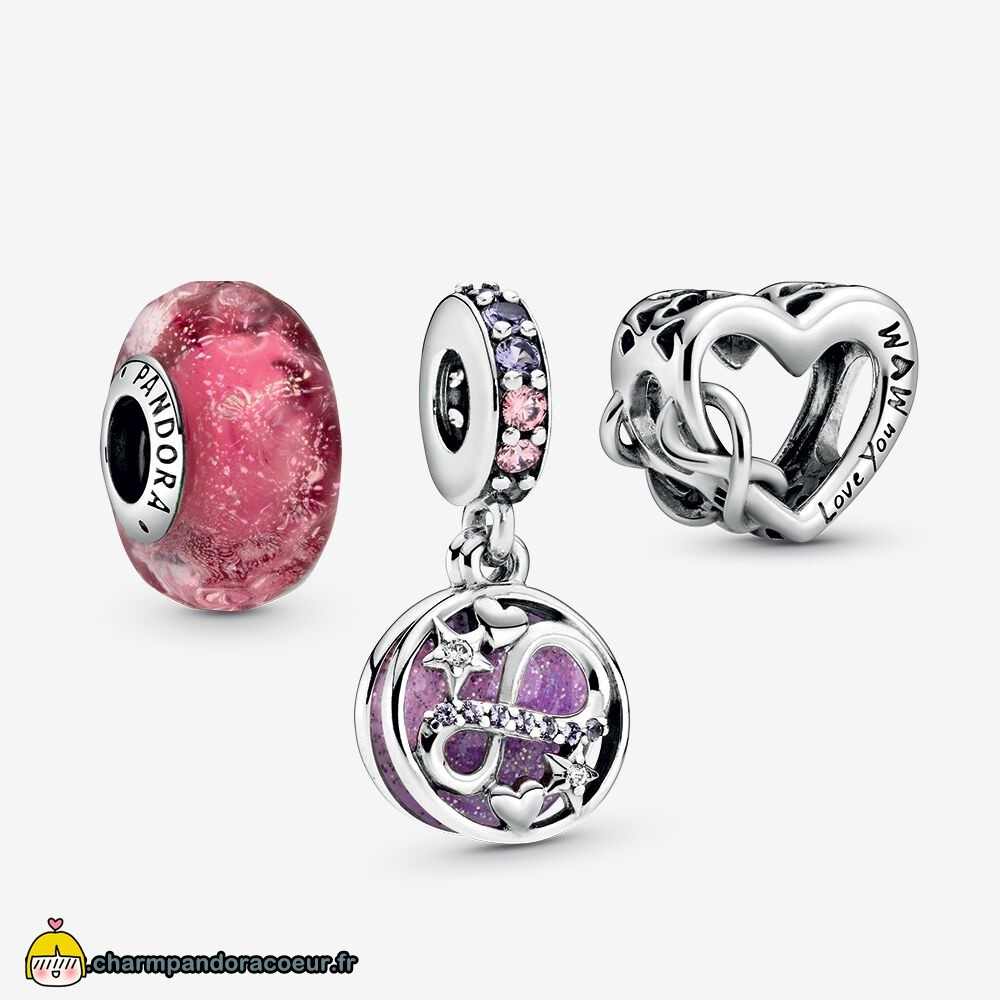 Nouvelle Collection Pandora Pack De Breloques Infini Scintillant