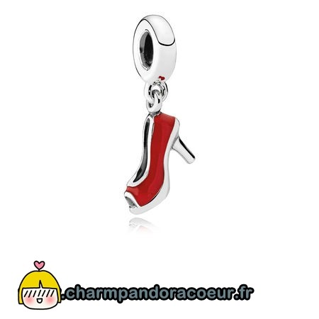 Nouvelle Collection Pandora Pandora Passions Charms Chic Breloque Glamour Red Stiletto Red Enamel