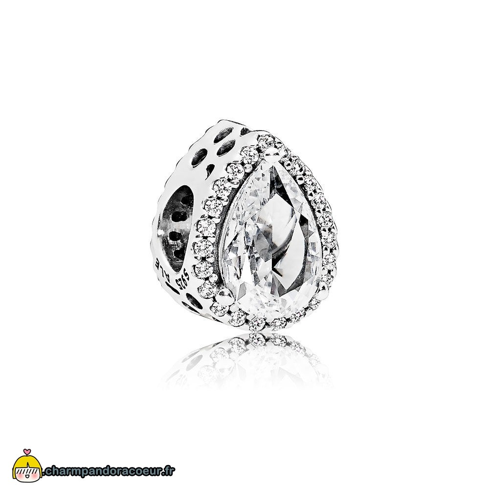 Nouvelle Collection Pandora Pandora Passions Charms Chic Charme Glamour Radiant Teardrop Clear Cz