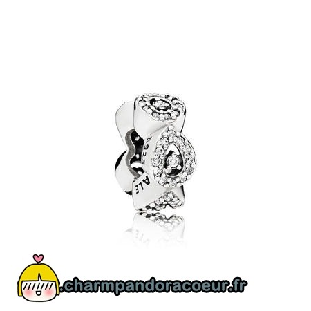 Nouvelle Collection Pandora Pandora Passions Charms Chic Glamour Cascading Glamour Spacer Clear Cz