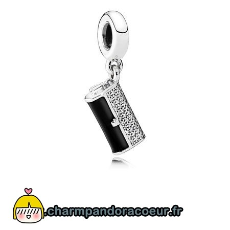 Nouvelle Collection Pandora Pandora Passions Charms Chic Pochette Glamour Dangle Charm Black Enamel Clear Cz