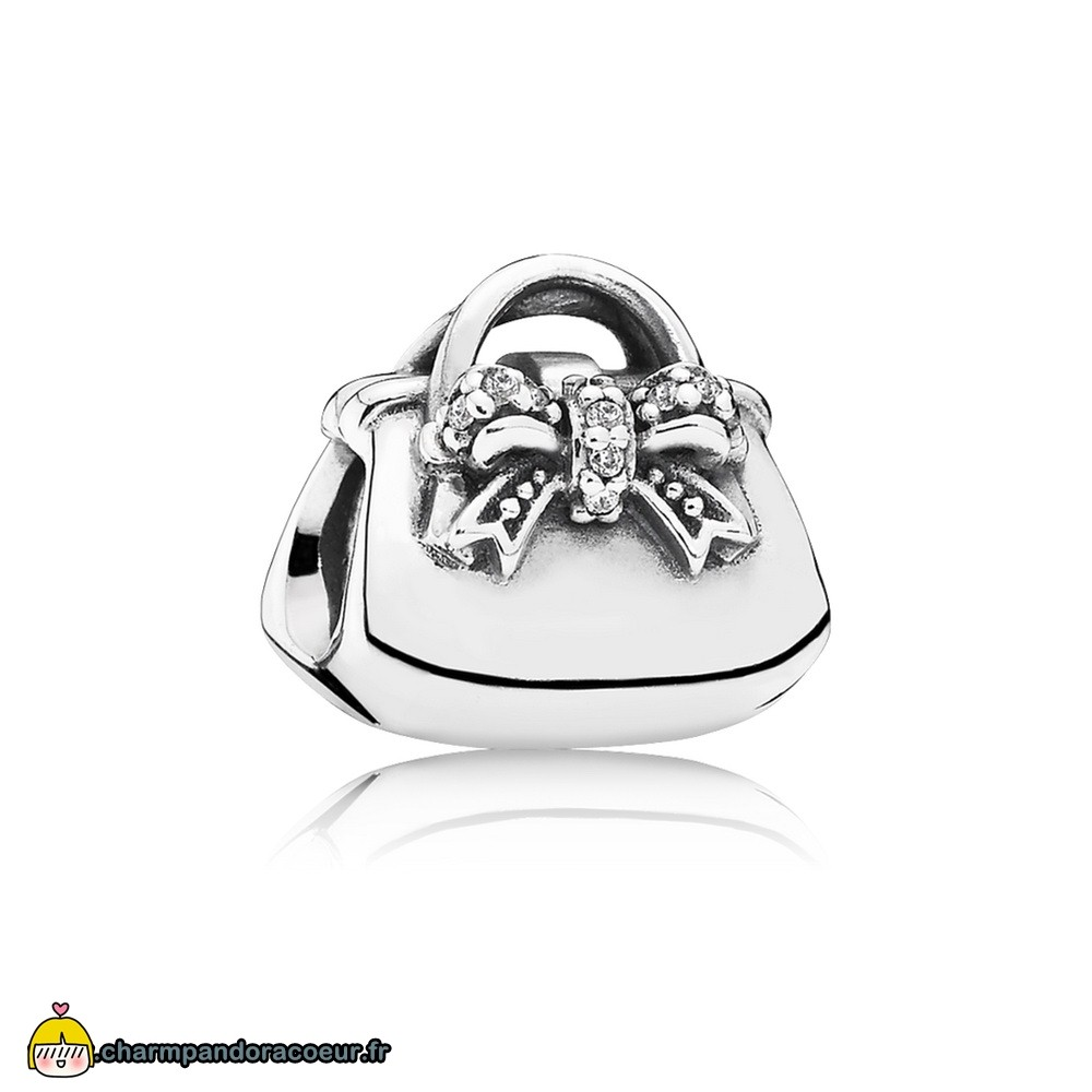 Nouvelle Collection Pandora Passions Charms Chic Charmant Sac A Main Clear Cz
