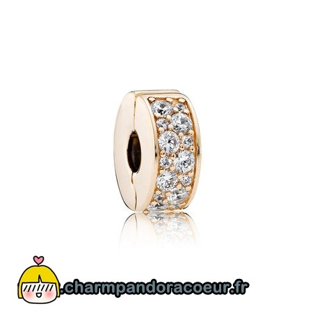 Nouvelle Collection Pandora Pandora Clips Breloques Brillant Elegance Clip 14K Or Clear Cz