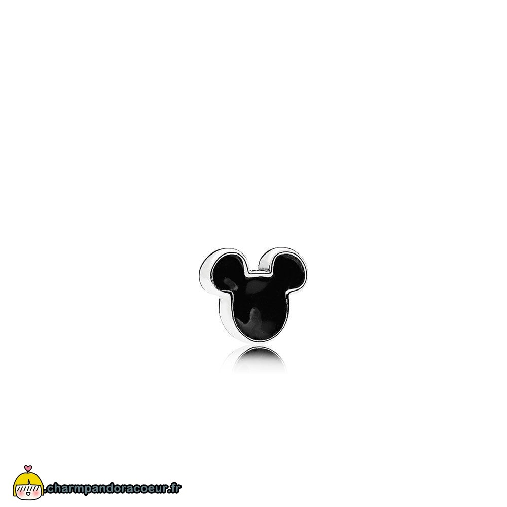 Nouvelle Collection Pandora Lockets Disney Mickey Icon Petite Charm Noir Email