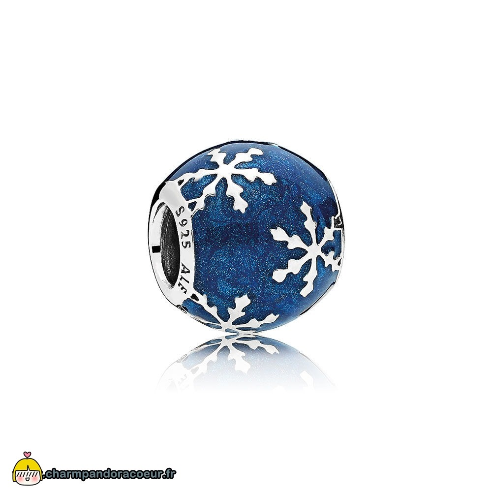 Nouvelle Collection Pandora Nature Charms Charme Delice Midnight Blue Enamel