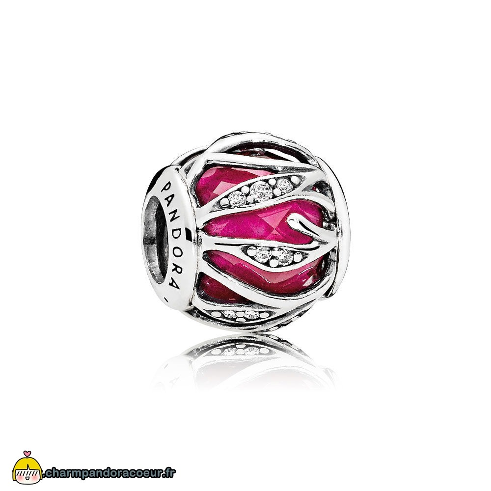 Nouvelle Collection Pandora Nature Charms Nature'S Radiance Synthetique Ruby Clear Cz