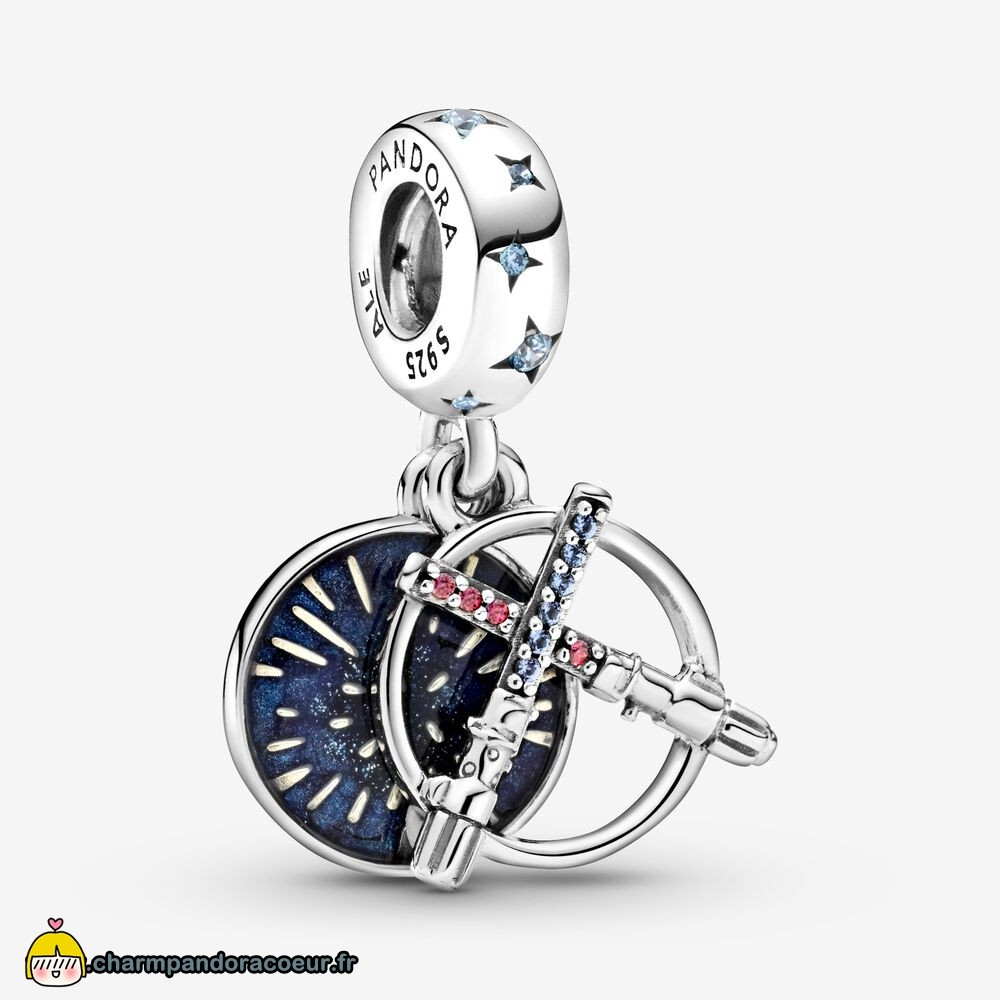 Nouvelle Collection Pandora Breloque Double Sabre Laser Star Wars