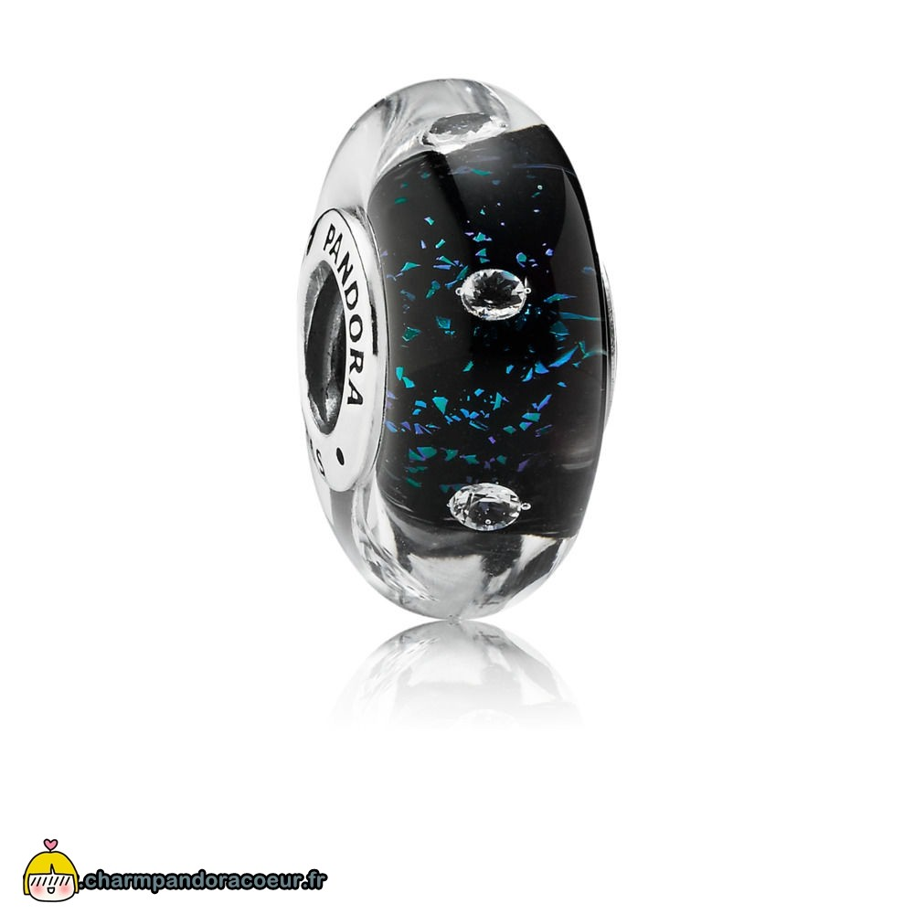 Nouvelle Collection Pandora Midnight Blue Fizzle Murano Charm